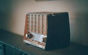 Picture Retro, Room, Interior, Radio, Old radio