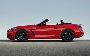 Picture red, BMW, profile, Roadster, BMW Z4, First Edition, M40i, Z4, 2019, G29