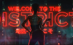 Wallpaper Girl, Music, Background, Cyborg, Cyber, Cyberpunk, Synth, Retrowave, Synthwave, New Retro Wave, Futuresynth, Sintav, Retrouve, ...