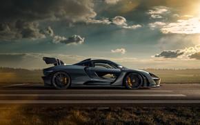 Picture McLaren, supercar, side view, Senna, Novitec, 2020