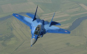 Picture flight, The MiG-29, multi-role fighter of the fourth generation, Videoconferencing Russia