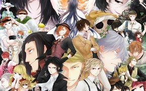 Picture guys, characters, Bungou Stray Dogs, Stray Dogs: A Literary Genius