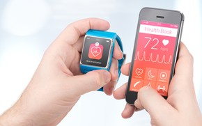 Picture cell phone, smart watch, synchronization