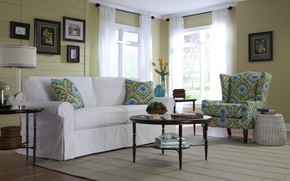 Picture room, interior, living room, cottage style