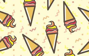 Picture background, texture, ice cream, dessert