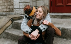 Picture girl, happiness, smile, hugs, steps, guy, lovers, Shelby Robinson