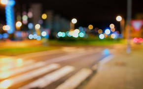 Picture road, the city, lights, street, the evening, the transition, bokeh, bokeh