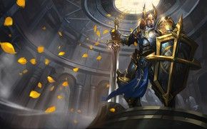 Picture sword, armor, helmet, male, shield, knight, Arena of Valor