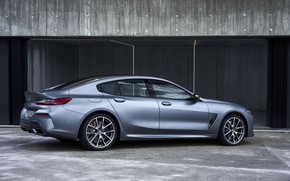 Picture coupe, BMW, Gran Coupe, 8-Series, 2019, the four-door coupe, Eight, G16, steel gray, in the …