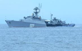 Picture ship, Blizzard, anti-submarine, small