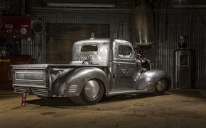Picture Plymouth, Truck, Custom, 757 There, Airplane engine