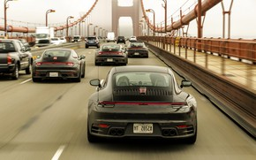 Picture bridge, coupe, 911, Porsche, prototype, tests, 992