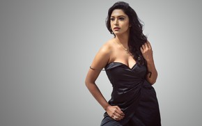 Picture girl, eyes, smile, beautiful, figure, lips, hair, brunette, indian, actress, bollywood, makeup, Akshatha sreedhar