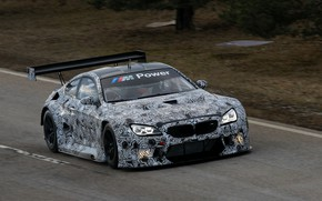 Picture coupe, track, BMW, camouflage, 2019, M6 GT3