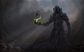 Wallpaper magic, skull, the demon, Diablo 3 Reaper of Souls