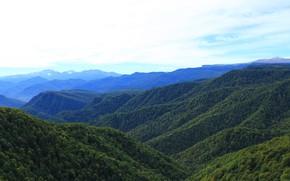 Picture mountains, Russia, Adygea, view, autumn