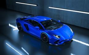 Picture Blue, Lamborghini, Machine, Car, Supercar, Aventador, Lamborghini Aventador, Supercar, Sports car, Sportcar, Transport & Vehicles, …