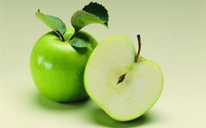 Picture two, in the context of, green apples