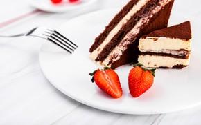 Picture strawberry, plug, dessert, cake