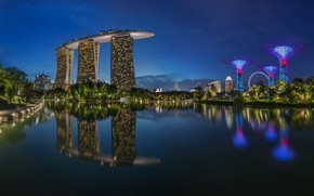 Picture the evening, Asia, Singapore, the hotel