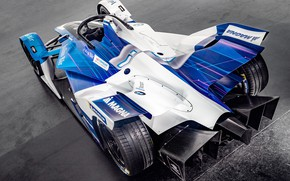 Picture rear view, 2018, Formula E, Electric Race Car, BMW iFE.18