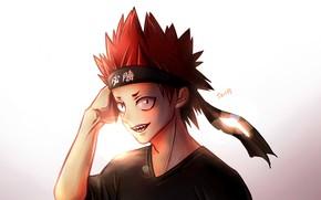 Picture headband, guy, red hair, My hero Academy, Boku No Hero Academy