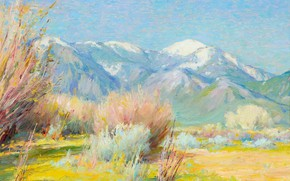 Picture Early Spring, Joseph Henry Sharp, Taos Mountain New Mexico