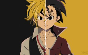 Picture collage, guys, demons, the second season, Nanatsu no Taizai, The seven deadly sins
