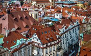Picture the city, roof, Prague, Czech Republic, houses