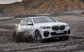 Picture BMW, the roads, 2018, Sport, crossover, X5 M, XDrive30d