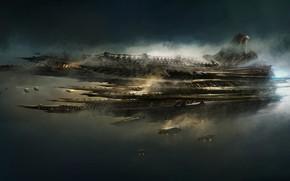 Picture Ship, Ships, Fantasy, Art, Art, Spaceship, Fiction, Concept Art, Spaceship, Science Fiction, Emmanuel Shiu, by ...