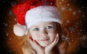 Picture snowflakes, holiday, hat, child