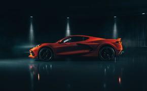 Picture Corvette, Chevrolet, side view, Stingray, 2020, C8