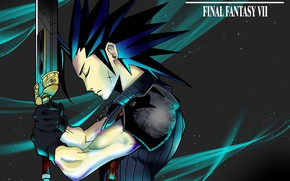 Picture sword, guy, Final Fantasy VII