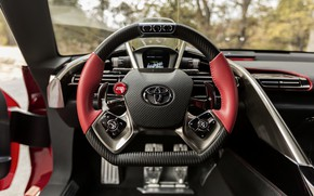 Picture red, coupe, the wheel, Toyota, salon, 2014, FT-1 Concept