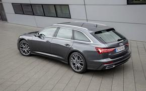 Picture Audi, Windows, 2018, universal, dark gray, A6 Avant