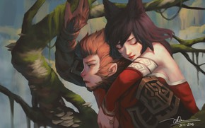 Picture girl, guy, League of Legends