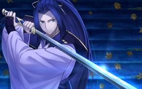 Picture sword, samurai, guy, Fate stay night, Fate / Stay Night