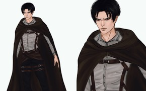 Picture art, Attack Of The Titans, Levi Ackerman, by valeryvy