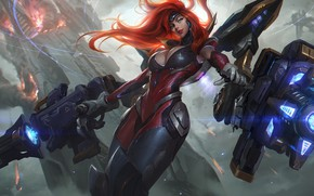 Picture weapons, the game, fantasy, art, Chengwei Pan, Art for League of Legends, Gun Goddess Miss …