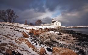 Picture winter, nature, temple