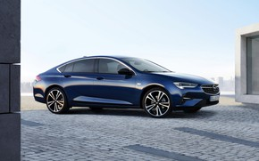 Picture blue, Insignia, Opel, sedan, side, 2020, Insignia Grand Sport