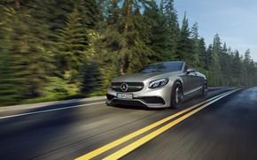 Picture Mercedes-Benz, Auto, Road, Machine, Grey, Mercedes, Car, Render, Silver, S63 AMG, Transport & Vehicles, Mercedes-Benz …