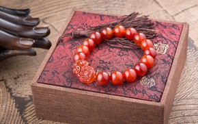 Picture red, bracelet, decoration, beads, box