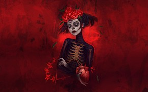 Picture Girl, Style, Calavera, Illustration, Day of the Dead, Day of the Dead, Sugar Skull, Katrina, …
