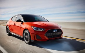 Picture Hyundai, front view, hatchback, Turbo, 2018, Veloster