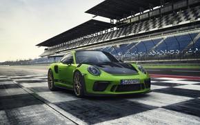 Picture coupe, Porsche, tribune, 2018, 911 GT3 RS