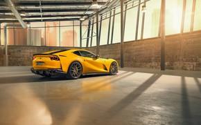Picture machine, hangar, lights, Ferrari, drives, sports, Superfast, 812, by Novitec