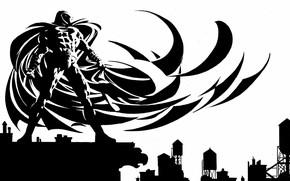 Picture white, black, Marvel, anti hero, moon knight, moon knight