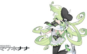 Picture art, girl, white background, Vocaloid
